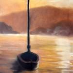 Loďka na jezeře