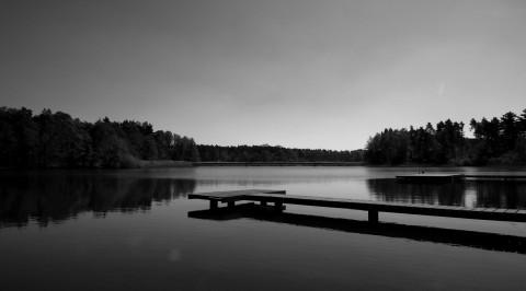 Molo na rybníku