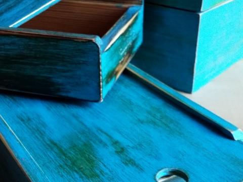 Patinované krabičky