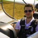 portrét v letadle