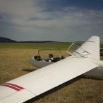 letní portrét v letadle