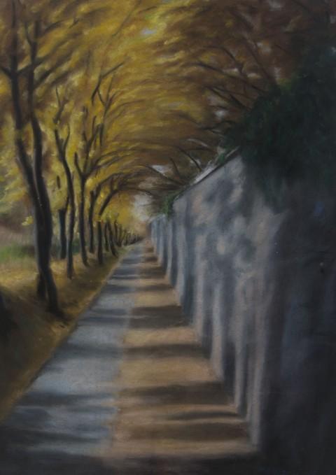 Cesta kolem hřbitova
