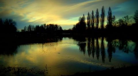 Západ slunce na Labi